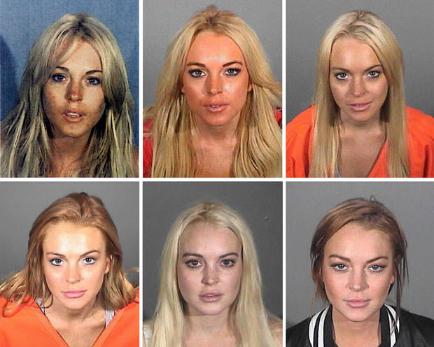 FILE: Lindsay Lohan Booking Photos